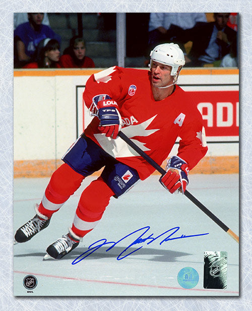 Mark Messier Team Canada Autographed Canada Cup 8x10 Photo
