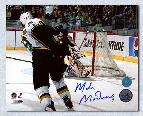 Mike Modano Dallas Stars Autographed USA Born Record Goal 503 8x10 Photo