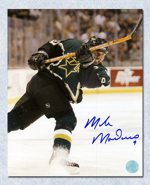 Mike Modano Dallas Stars Autographed Hockey Sniper 8x10 Photo – A.J. ... 7d3b4fabf08