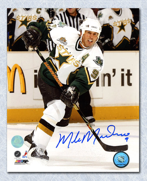 Mike Modano Dallas Stars Autographed 2007 Game Action 8x10 Photo