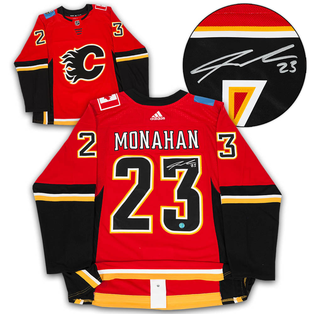 separation shoes 467d0 0b62f Sean Monahan Calgary Flames Autographed Adidas Authentic Hockey Jersey