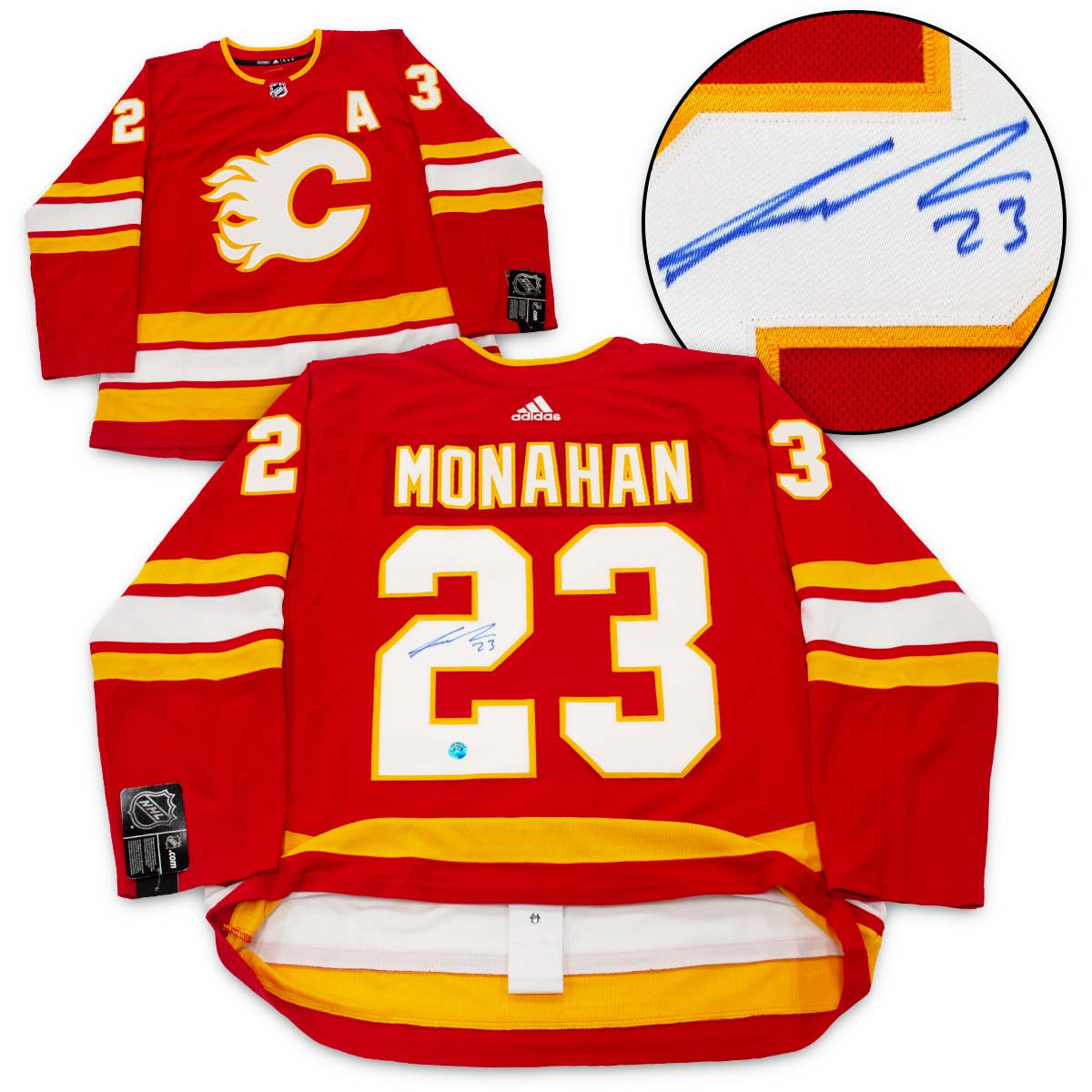 Sean Monahan Calgary Flames Autographed Alternate Adidas Authentic