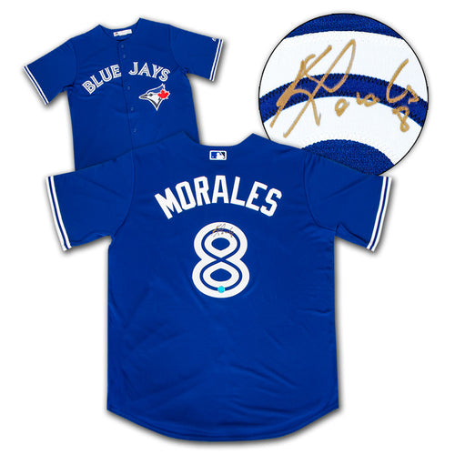 Kendrys Morales Toronto Blue Jays Autographed Replica MLB Baseball Jersey
