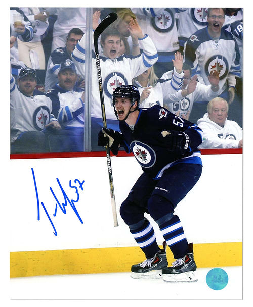 Tyler Myers Winnipeg Jets Autographed Goal Celebration 8x10 Photo