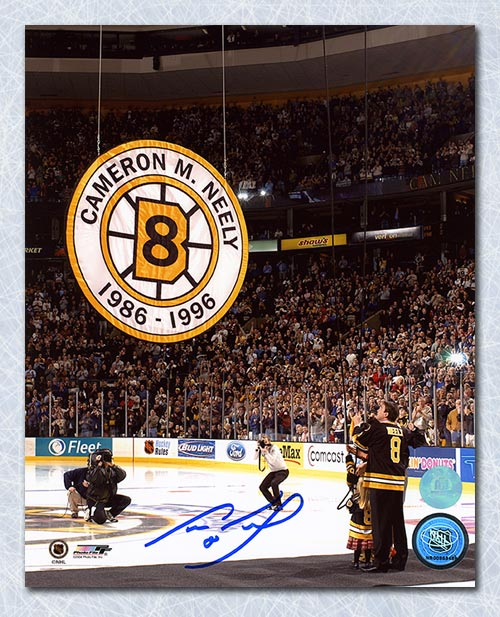 Cam-Neely-Boston-Bruins-Autographed-Banner-Retirement-Night-8x10-Photo