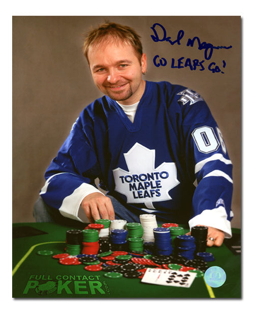 Daniel Negreanu Poker Star Autographed Maple Leafs fan 8x10 Photo