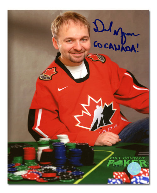 Daniel Negreanu Poker Star Autographed Team Canada fan 8x10 Photo