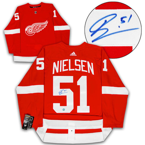 Frans Nielson Detroit Red Wings Autographed Adidas Authentic Hockey Jersey 6f6cce2da