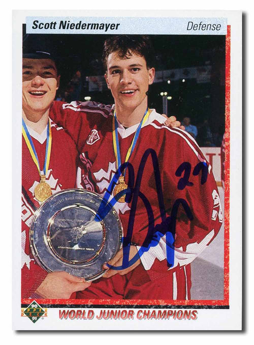 Scott Niedermayer Autographed 1991-92 Upper Deck Rookie Card