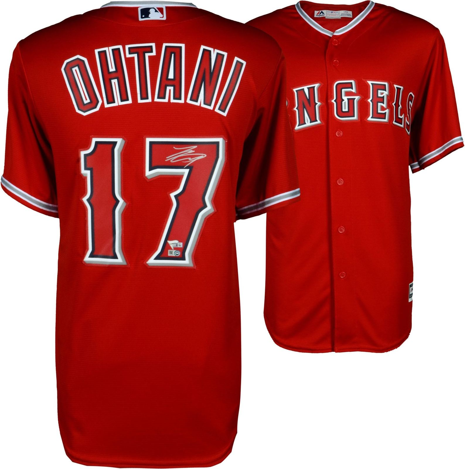 Shohei Ohtani Los Angeles Angels Autographed Majestic Replica Jersey   Steiner c0daf4390