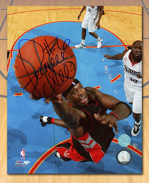Jermaine O'Neal Toronto Raptors Autographed Basketball 8x10 Photo