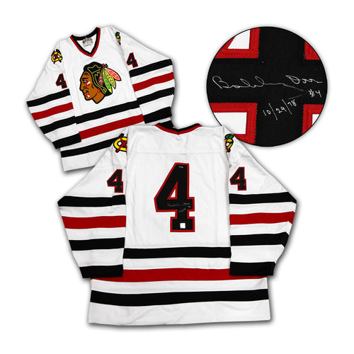 Bobby Orr Chicago Blackhawks Autographed & Dated Last Game Jersey #/144: GNR COA