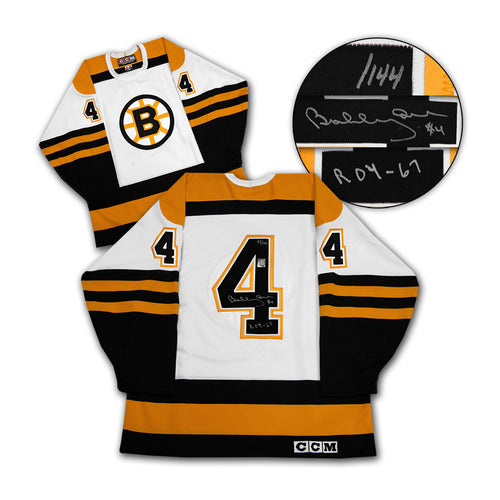 Bobby Orr Boston Bruins Signed & Inscribed Rookie of the Year Jersey #/144 GNR