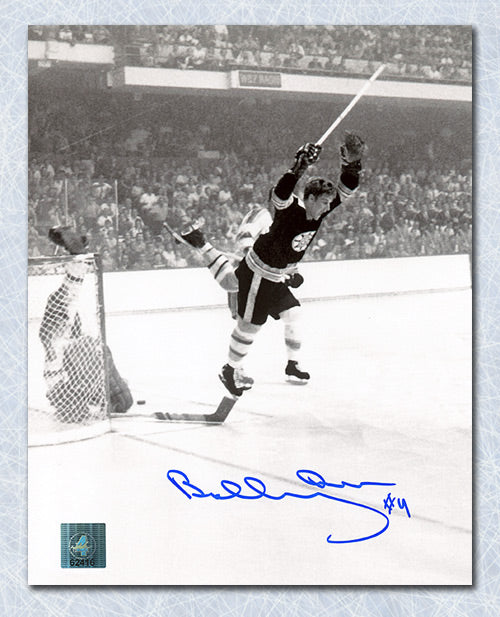 Bobby Orr Boston Bruins Autographed Vertical Winning Goal 8x10 Photo: GNR COA