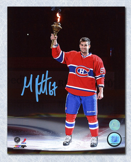 Max Pacioretty Montreal Canadiens Autographed Torch Ceremony 8x10 Photo