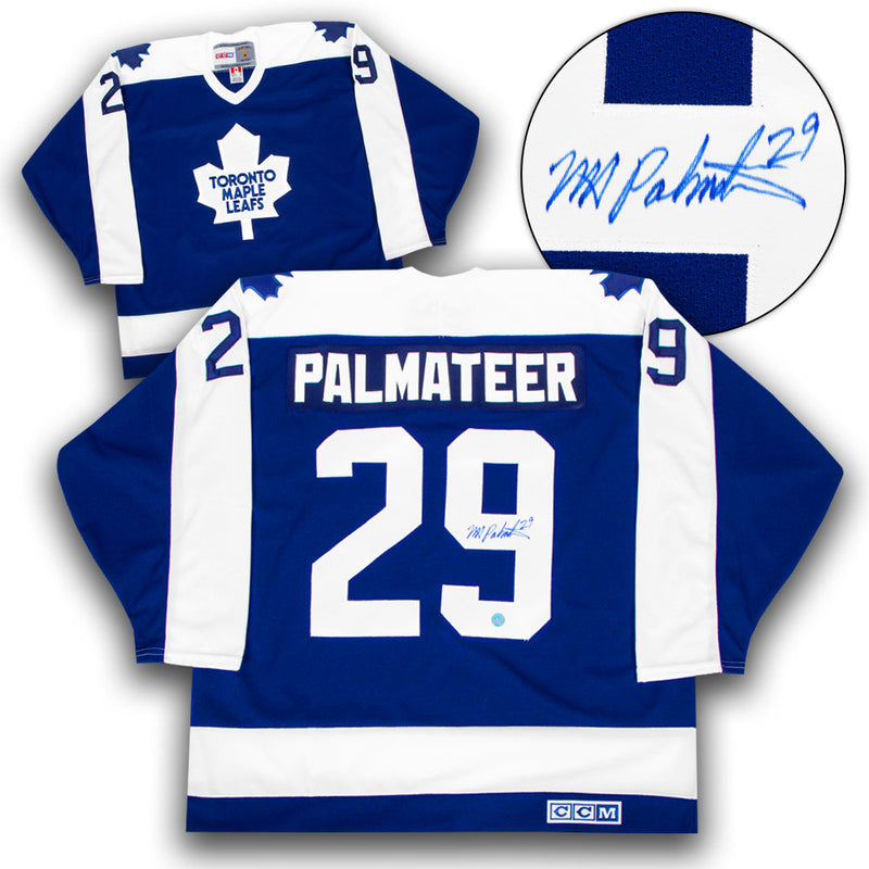 Mike Palmateer Toronto Maple Leafs Signed Vintage CCM Jersey