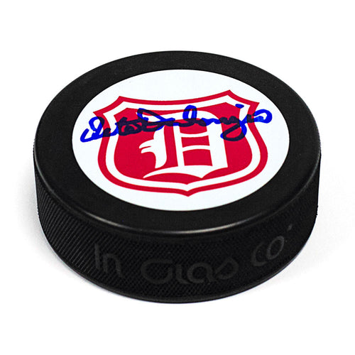 Pete Palangio Detroit Falcons (Red Wings) Autographed Hockey Puck