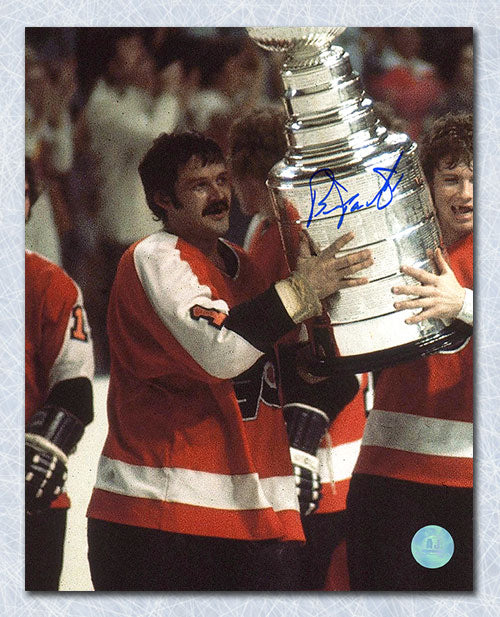 Bernie Parent Philadelphia Flyers Autographed Stanley Cup Champs 8x10 Photo