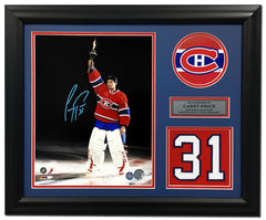 Carey Price Montreal Canadiens Signed Torch Ceremony Jersey Number 19x23 Frame