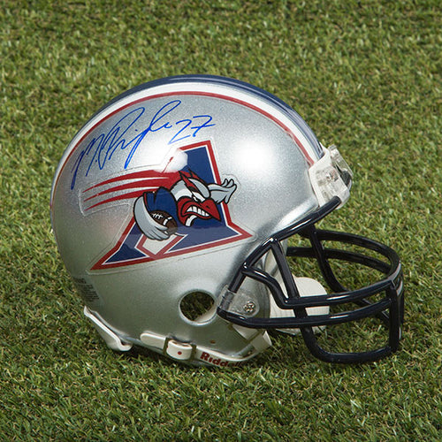 Mike Pringle Montreal Alouettes Autographed CFL Football Mini-Helmet
