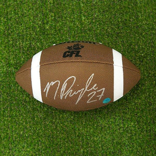 Mike Pringle Autographed CFL Wilson Composite Football - Montreal Alouettes