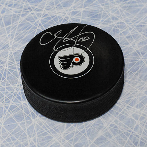 Chris Pronger Philadelphia Flyers Signed Autograph Model Hockey Puck
