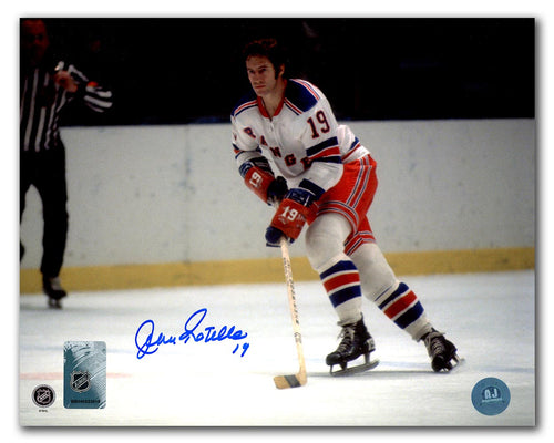 Jean Ratelle New York Rangers Autographed Hockey Playmaker 8x10 Photo