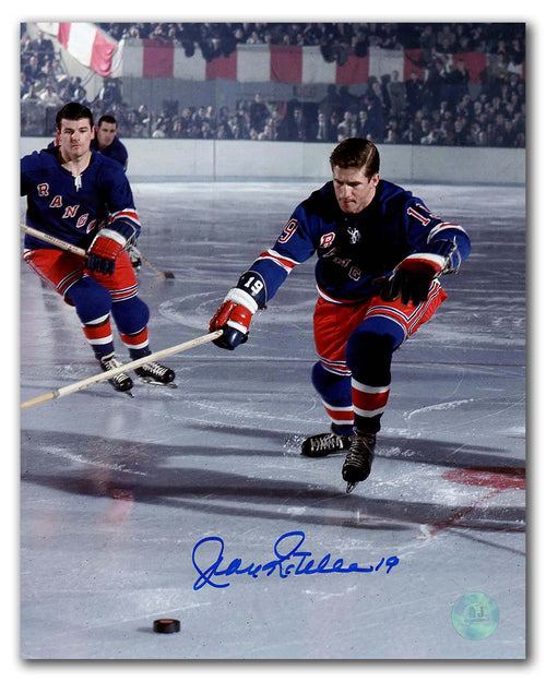 Jean Ratelle New York Rangers Autographed Original Six Hockey 8x10 Photo