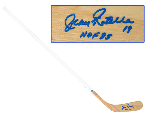 Jean Ratelle Autographed Wood Hockey Stick - New York Rangers