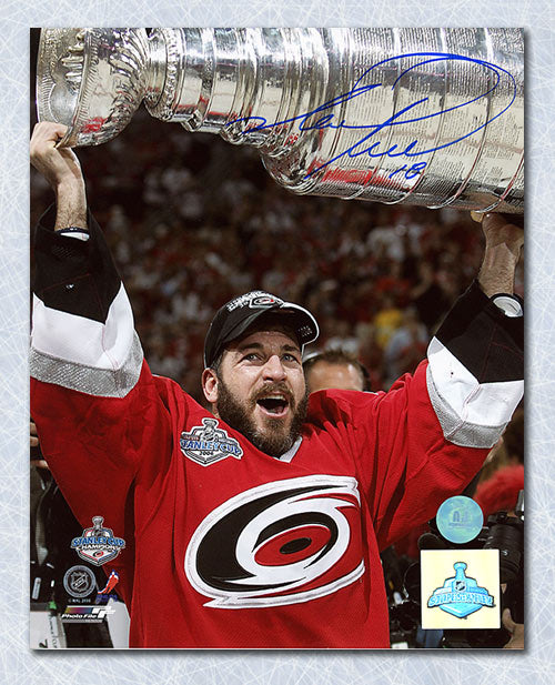 Mark Recchi Carolina Hurricanes Autographed 2006 Stanley Cup 8x10 Photo