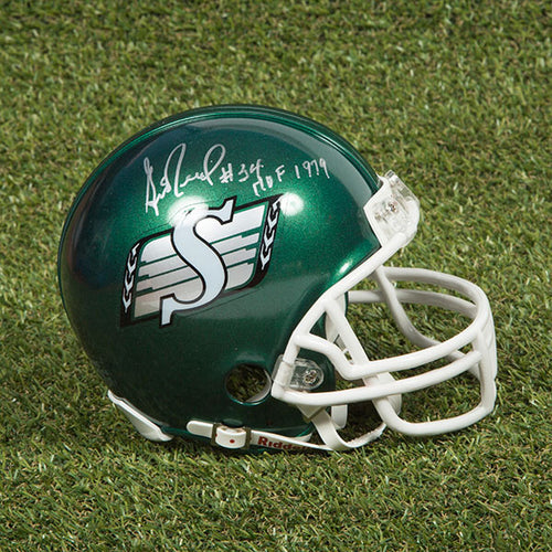 George Reed Saskatchewan Roughriders Autographed CFL Football Mini-Helmet
