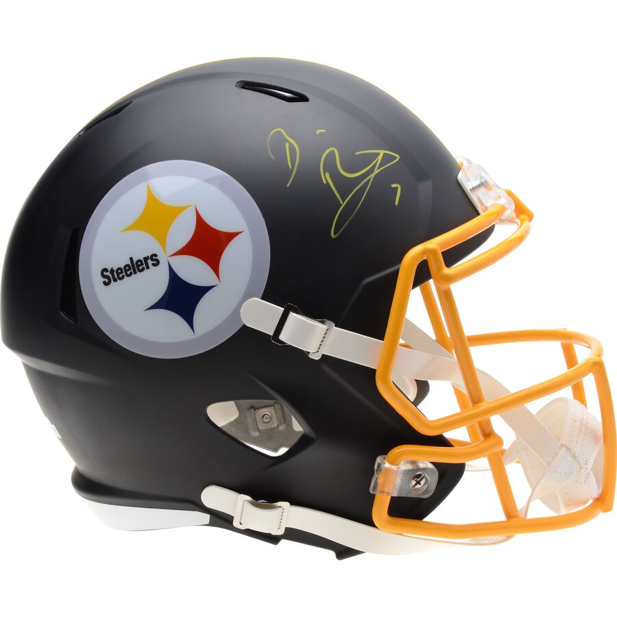 buy popular 4f792 abbe5 Ben Roethlisberger Pittsburgh Steelers Signed Full Size Replica NFL  Football Helmet