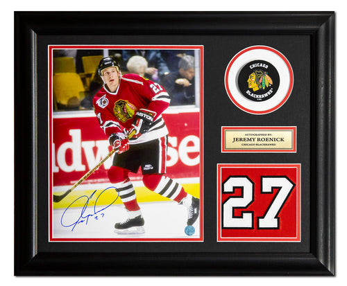b32ed518262 Jeremy Roenick Chicago Blackhawks Autographed Jersey Number 23x19 Frame