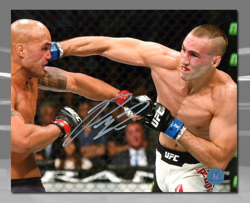 Rory MacDonald Autographed UFC Fight Head Punch 8x10 Photo