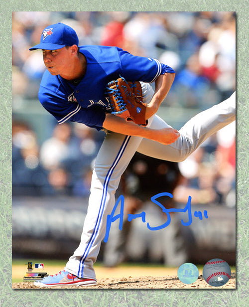 Aaron Sanchez Toronto Blue Jays Autographed First Career Win 8x10 Photo