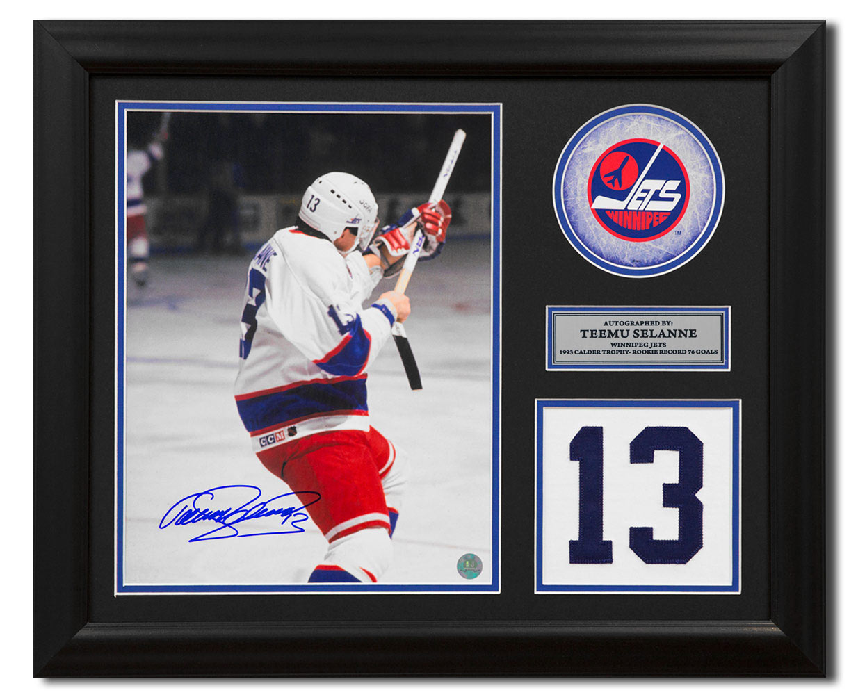 save off e3415 fc532 Teemu Selanne Winnipeg Jets Signed Franchise Jersey Number 23x19 Frame