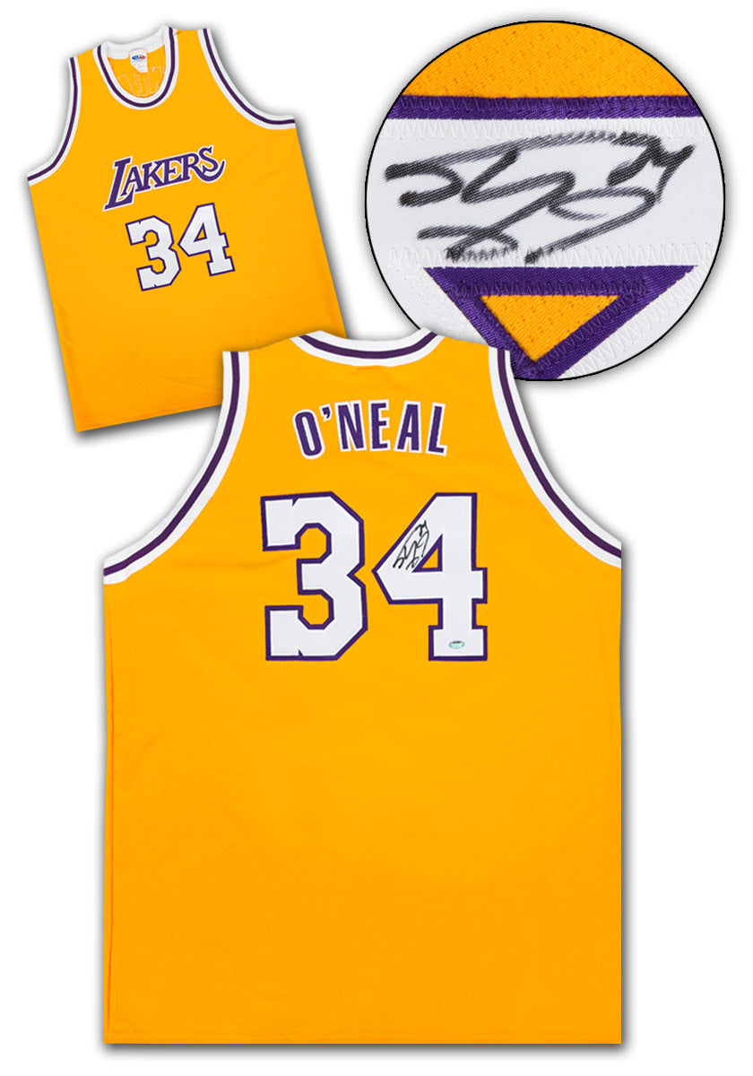 new style 27d98 52e1a Shaquille O'Neal Los Angeles Lakers Autographed Custom Basketball Jersey:  SS COA