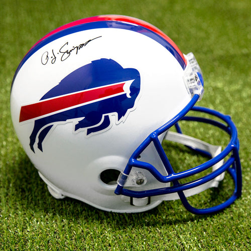 OJ Simpson Buffalo Bills Autographed Full Size Replica NFL Football Helmet