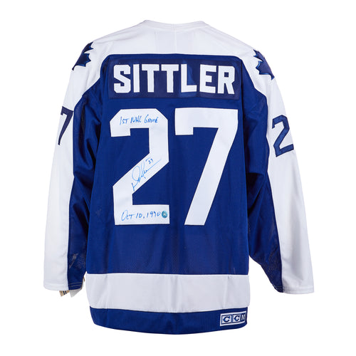 Darryl Sittler Toronto Maple Leafs Autographed CCM Vintage Hockey Jersey