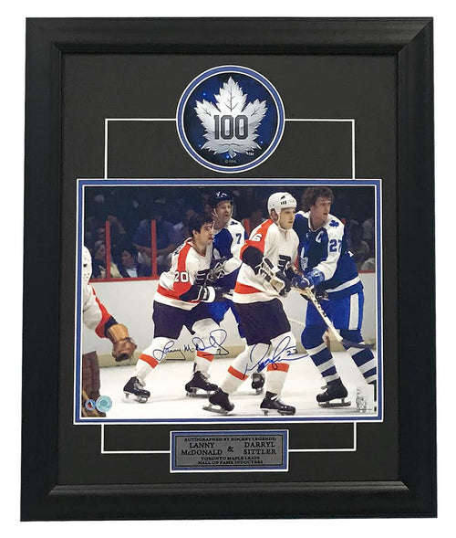 Darryl Sittler & Lanny MacDonald Toronto Maple Leafs Dual Signed 23x19 Frame