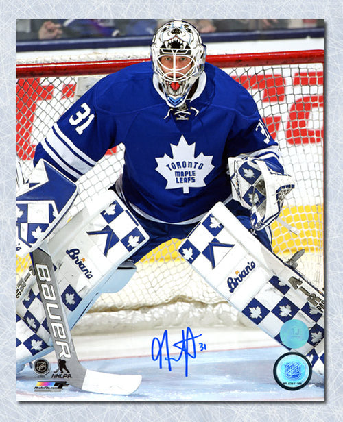 Garret Sparks Toronto Maple Leafs Autographed First NHL Game 8x10 Photo