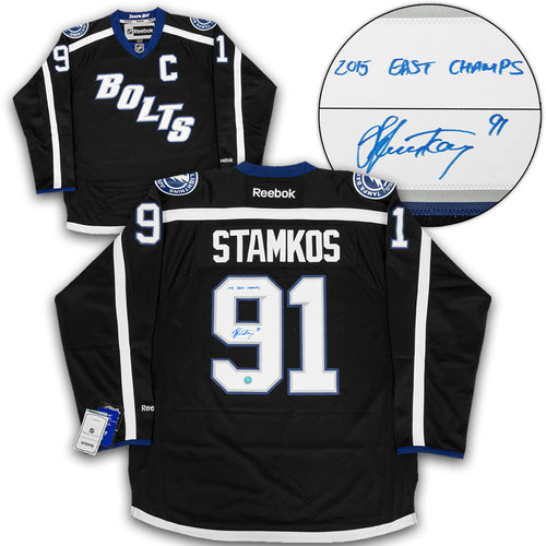 Steven Stamkos Tampa Bay Lightning Signed Black Bolts Premier Jersey with 2015 East Champs Note