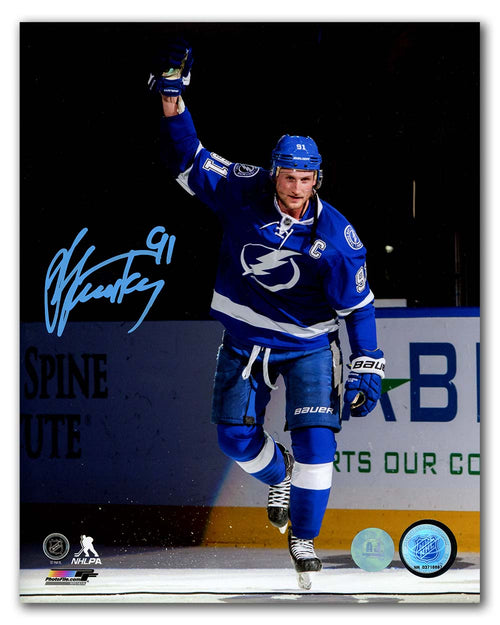Steven Stamkos Tampa Bay Lightning Autographed 1st Star Salute 8x10 Photo