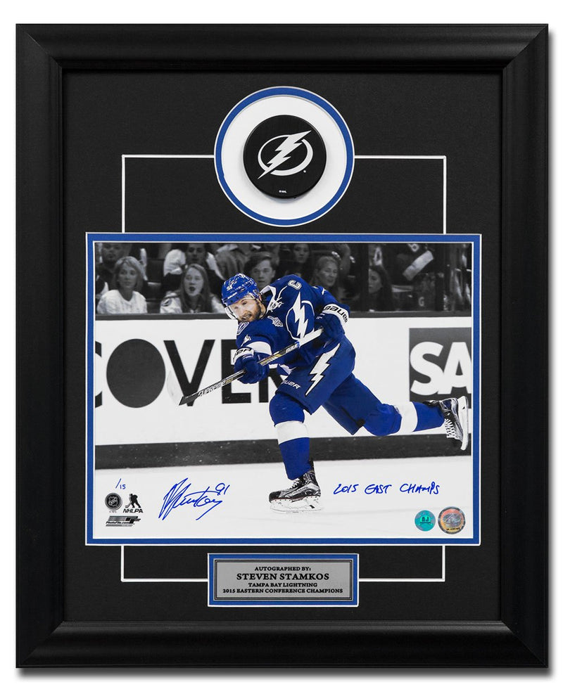 Steven Stamkos Tampa Bay Lightning Signed & Inscribed 2015 Cup Finals 20x24 Frame /15