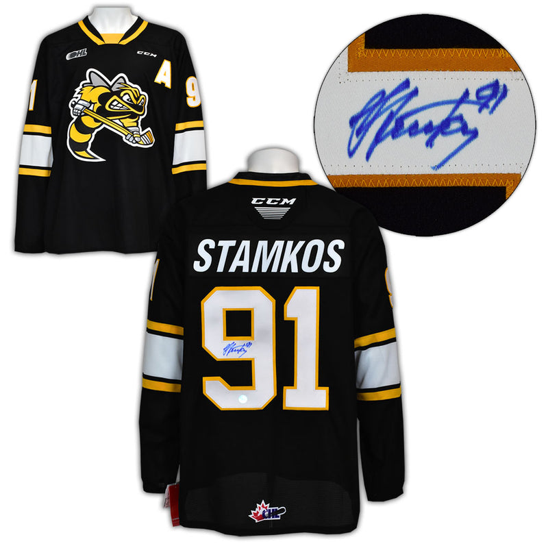 Steven Stamkos Sarnia Sting Autographed CCM CHL Replica Jersey