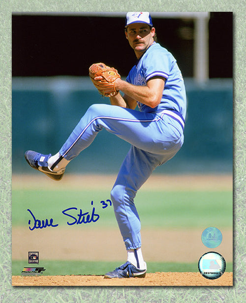 Dave Stieb Toronto Blue Jays Autographed Powder Blue Jersey 8x10 Photo