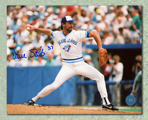 Dave Stieb Toronto Blue Jays Autographed Exhibition Stadium Pitching 8x10 Photo