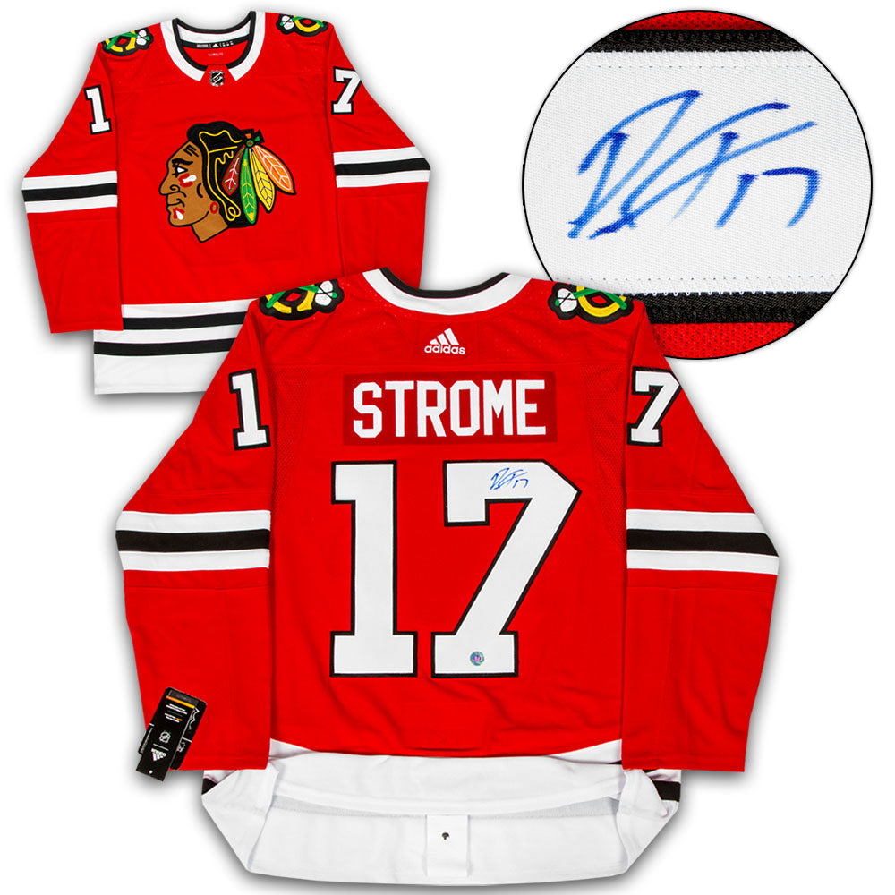 competitive price 5431a d2c20 Dylan Strome Chicago Blackhawks Autographed Adidas Authentic Hockey Jersey