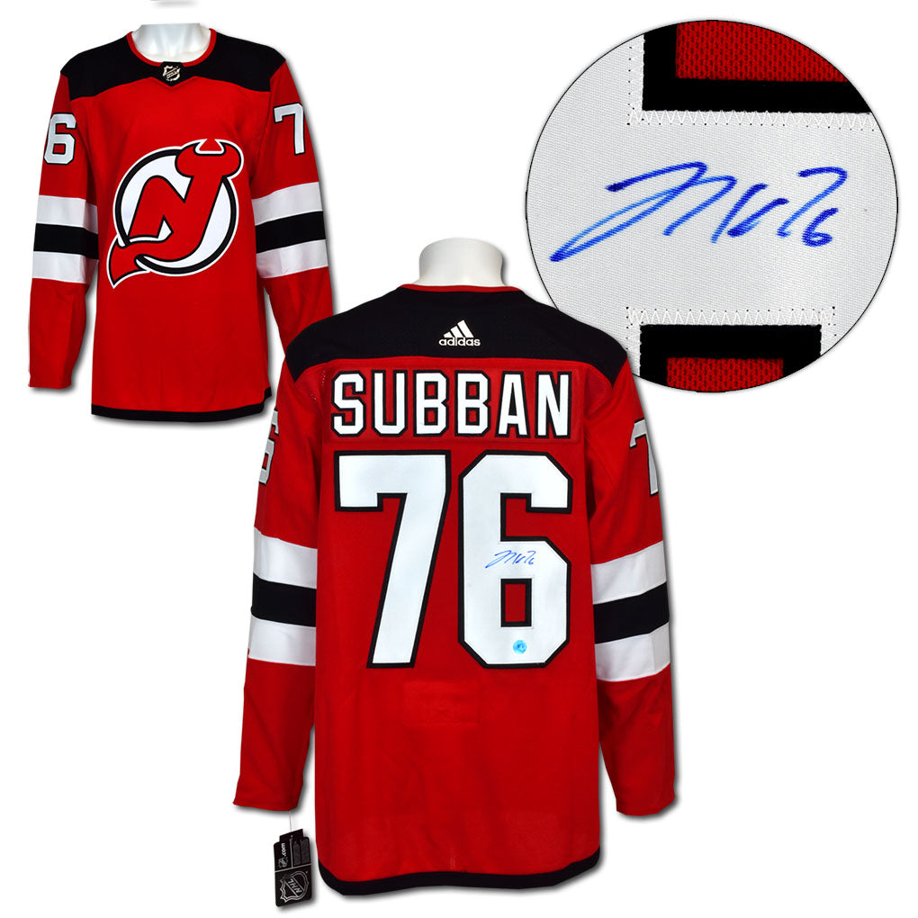 buy popular 537f1 9894a PK Subban New Jersey Devils Autographed Adidas Authentic Hockey Jersey