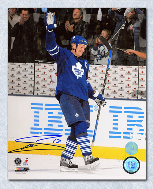 Mats Sundin Toronto Maple Leafs Autographed Points Record 8x10 Photo